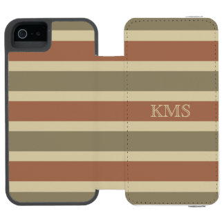 Stripes Pattern custom monogram wallet cases Incipio Watson™ iPhone 5 Wallet Case