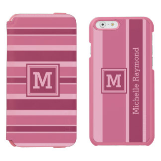 Stripes Pattern custom monogram wallet cases Incipio Watson™ iPhone 6 Wallet Case