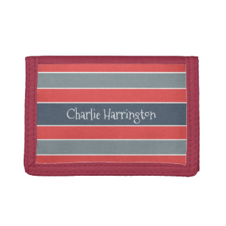 Stripes Pattern custom monogram wallets