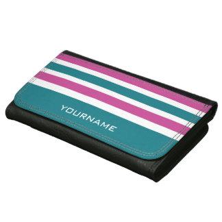 Stripes Pattern custom monogram wallets
