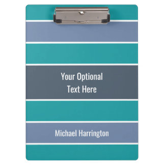 Stripes Pattern custom name clipboard