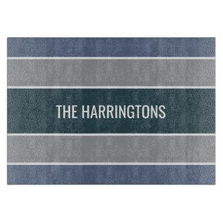 Stripes Pattern custom name cutting boards