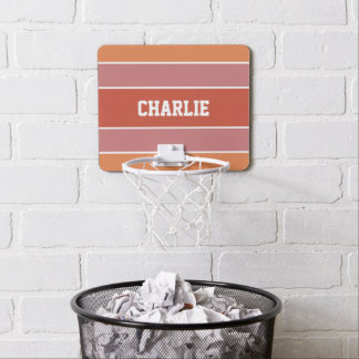 Stripes Pattern custom name mini hoop