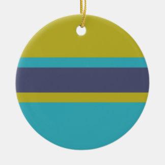 Stripes Pattern custom ornament