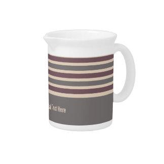 Stripes Pattern custom pitcher