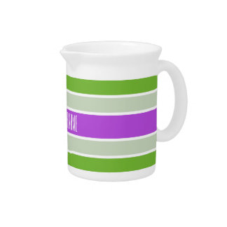 Stripes Pattern custom pitcher