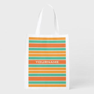 Stripes Pattern custom reusable bag