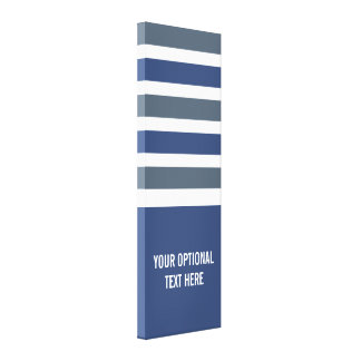 Stripes Pattern custom size & text wrapped canvas