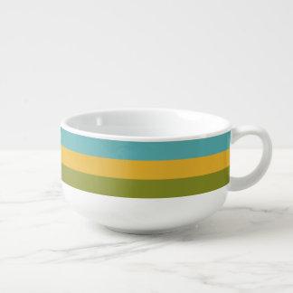 Stripes Pattern custom soup mug