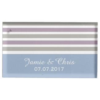 Stripes Pattern custom table card holder