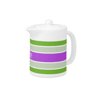 Stripes Pattern custom teapot