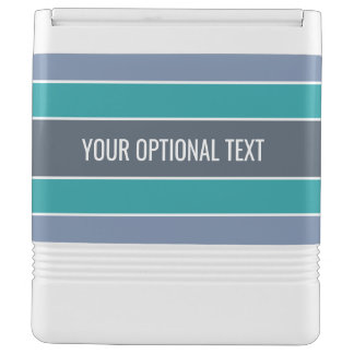 Stripes Pattern custom text coolers Igloo Cool Box