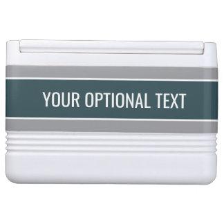 Stripes Pattern custom text coolers Igloo Cooler