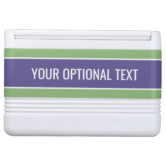 Stripes Pattern custom text coolers Igloo Cooler