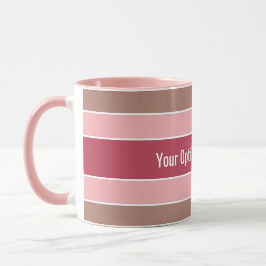 Stripes Pattern custom text mugs