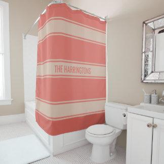 Stripes Pattern custom text shower curtain