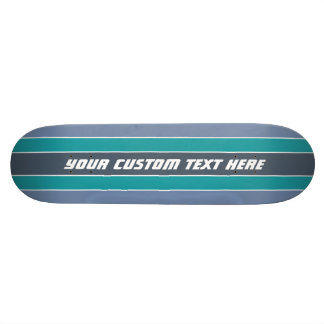 Stripes Pattern custom text skateboards