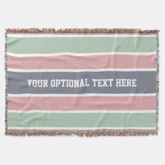 Stripes Pattern custom throw blanket