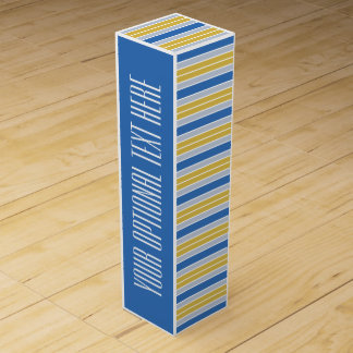 Stripes Pattern custom wine gift box