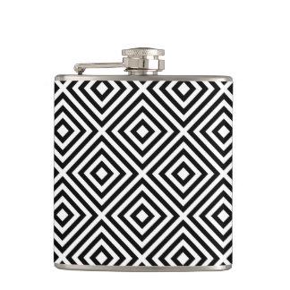 Stripes Pattern Hip Flask
