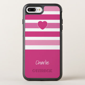 Stripes Pattern monogram phone OtterBox Symmetry iPhone 8 Plus/7 Plus Case