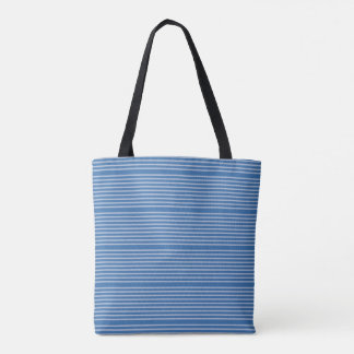Stripes pattern two tones of blue tote bag