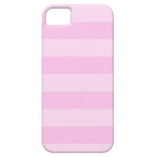 Stripes - Pink and Light Pink iPhone 5/5S Covers