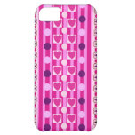 Stripes, polka dots & hearts iPhone 5 case