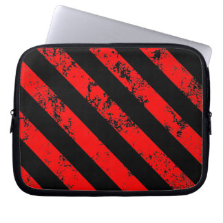 Stripes Punk Anarchist cracked Computer Sleeves
