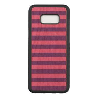 Stripes Samsung Galaxy S8+ Slim Cherry Wood Case