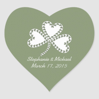 Stripes & Shamrocks Irish Wedding Stickers