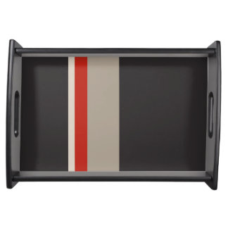 STRIPES Small Serving Tray, Black Serving Tray