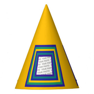 Stripes Square Frame colored 02 + your idea Party Hat