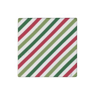 Stripes Stone Magnet