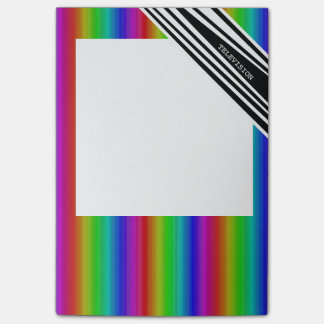 Stripes Vertical Hold Rainbow Frequency TV Bars Post-it Notes