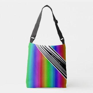 Stripes Vertical Hold Rainbow TV Color Bars Art Crossbody Bag