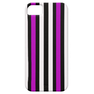 Stripes Vertical Purple Black White Barely There iPhone 5 Case