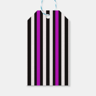 Stripes Vertical Purple Black White Gift Tags