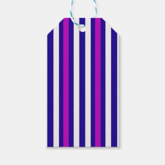 Stripes Vertical Purple Blue White Gift Tags