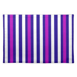 Stripes Vertical Purple Blue White Placemat