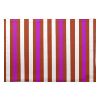 Stripes Vertical Purple Red White Placemat