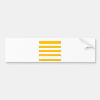 Stripes - White and Amber Bumper Stickers