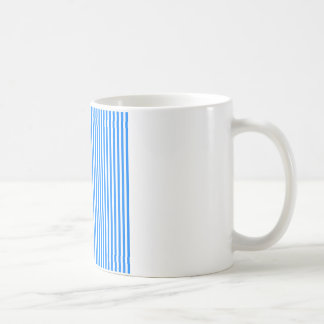 Stripes - White and Azure Coffee Mug