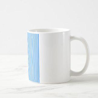 Stripes - White and Azure Mugs