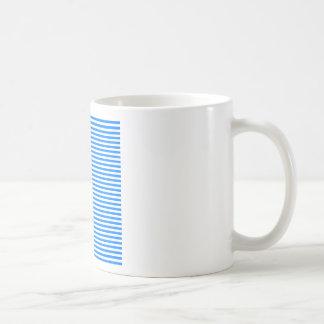Stripes - White and Azure Coffee Mugs