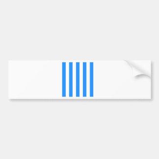 Stripes - White and Blue Bumper Sticker