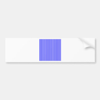 Stripes - White and Blue Bumper Stickers