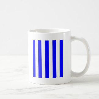 Stripes - White and Blue Coffee Mugs