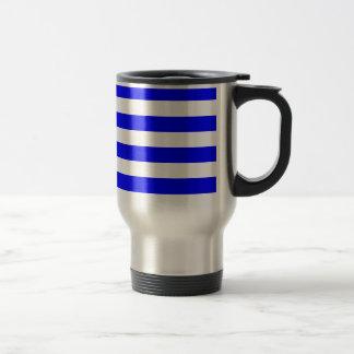 Stripes - White and Blue Coffee Mugs