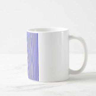 Stripes - White and Blue Mugs